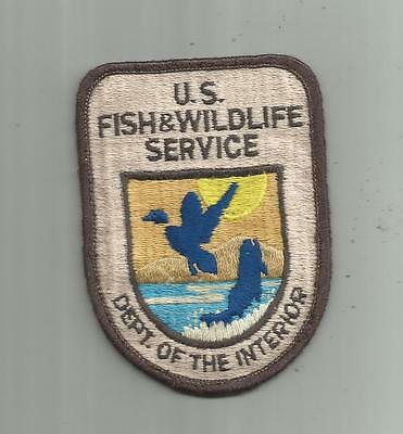 Vintage Us Fish And Wildlife Service Dept Interior Law Enforcement Police Patch