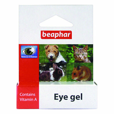 Beaphar Eye Gel Vitamin A Relieves Irritation Pets/Cats/Dogs/Hamster/Rabbit/NEW