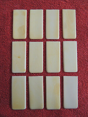 12 Vintage / Antique Piano Key Tops Great Condition Lot 6