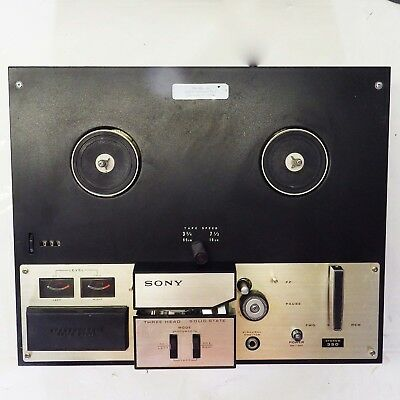 Vintage Sony Stereo 350 Reel-to-Reel Player 4-Track 2-Speed