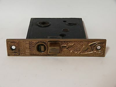 Broken Leaf Exterior Entry Door Mortise Lock Cast Iron Brass Victorian Lockwood