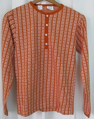 Boy's L 14-16 14 16 JCPenny TOWNCRAFT Snowflake L/S Knit T Tee Shirt NWT Vintage