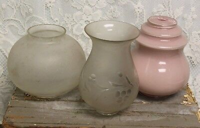 Lot of 3 Vintage Antique Lamp / Light Shades