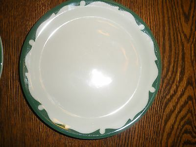 "5 vintage Shenango restaurant salad pie plates green 6 1/4"" VERY NICE CONDITION"