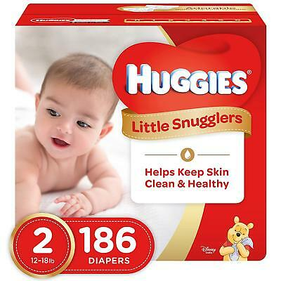 ***NEW*** Huggies Little Snugglers Diapers Size 2, 186 Count ***FREE SHIPPING***