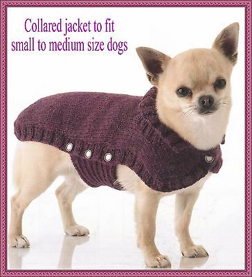 Knitting Pattern For A Classic Warm Snug Knitted Dog Coat Easy To