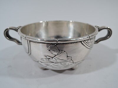 Whiting Sugar Bowl - Japonesque Aesthetic Antique - American Sterling