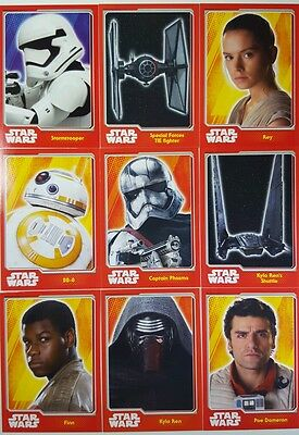 Journey to STAR WARS Force Awakens Trading Card SET OF 160 UK Edition + tin 2015
