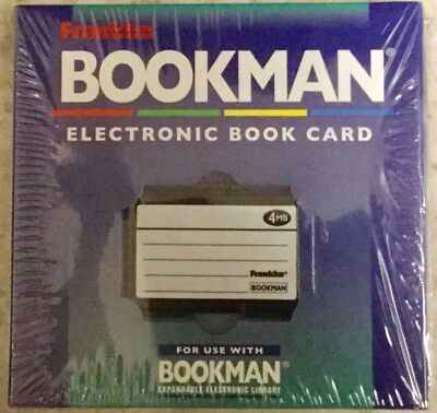 Blank Bookman Bookcard for Franklin 4mb