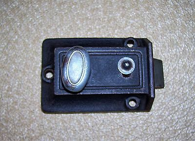 Antique Vintage Keil Dead Bolt Lock Heavy Duty Rare Indoor Room Keyless Lock