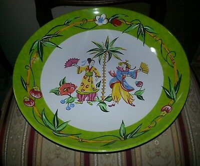 """Essex Collection """"Good Fortune"""" Huge Serving Bowl JOAN GREEN 13"""" x  2 3/8"""" MINT"""