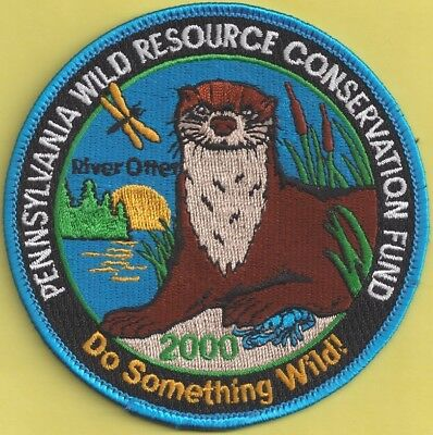 "Pa Pennsylvania Fish Game Commission Related NEW 4"" 2000 WRCF River Otter Patch"