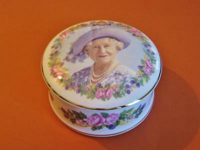 Staffordshire commerorative The Queen Mother 1900-2002 trinket pot.