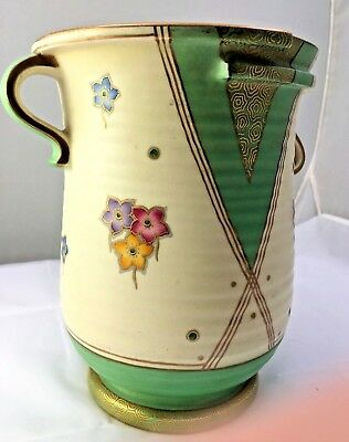 CROWN DEVON (FIELDINGS) ULTRA ART DECO VASE - FANTASTIC DESIGN - Ca: 1930's