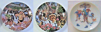 Avon 1987 Decorative Plate Plates, Douglas Stevens, Quebec Ontario and One 1986