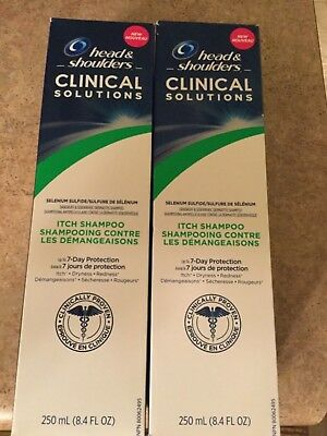 Lot of 2 HEAD & SHOULDERS CLINICAL SOLUTIONS Itch Shampoo 8.4 oz Free Ship