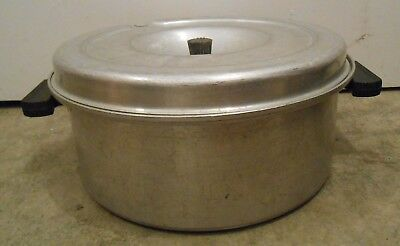 Wear-Ever 8064 Aluminum Stock Pot Bakelite Art Deco Vented Lid Excellent Large