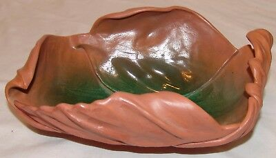 Linda Huey Pottery Overlapping Leaves Ceramic Artist Alfred NY