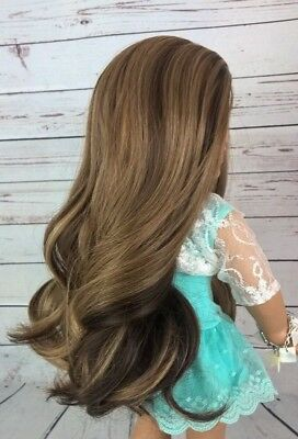 10-11 Custom Doll Wig fit Blythe-American Girl-1/4 Size Doll GOLDEN GIRL bn1