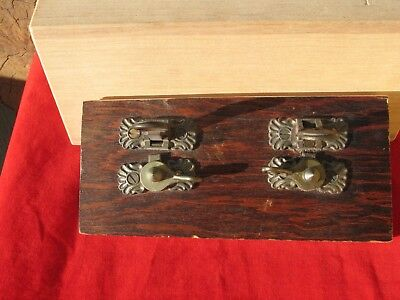 A Matching Pair of Antique Ornate Cast Bronze Latches Patented Sept  26, 1865