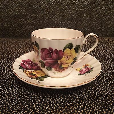 Vintage Royal Tuscan Fine Bone China Teacup & Saucer - Made In England