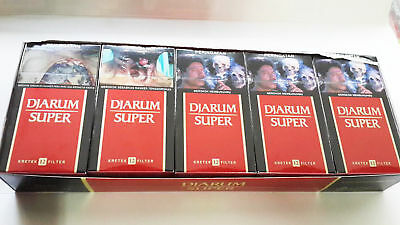FREE SHIPPING Djarum Super 5 Pack (5x12) Filter Kretek - NEW, FRESH, and SEALED
