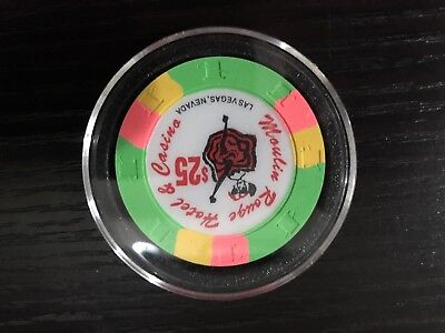 $25 Moulin Rouge Las Vegas Casino Chip 90's chip