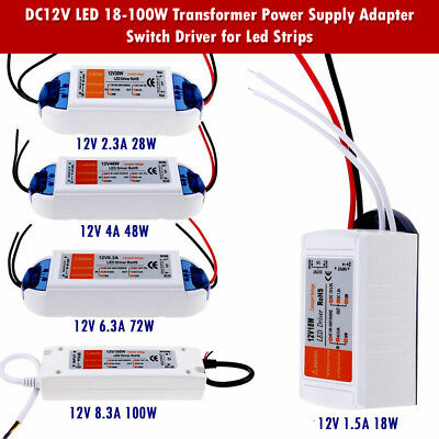 AC to DC 12V - LED Driver Power Supply Transformer 240V UK Stock