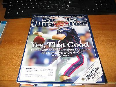 New England Patriots Sports Illustrated (With Tom Brady Cover) Magazine