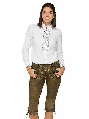 Stockerpoint Leather Trousers Knee-Breeches Stone Lye-Treated