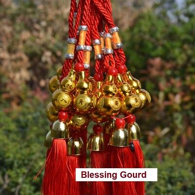 Gourd Bless Car hanging Gold decoration luckyHome Luck Chinese new year Fringe