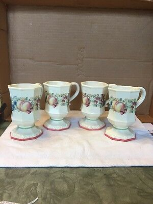 Vintage Group Of Four Avon Sweet Country Harvest Cups