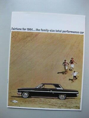 Ford Fairlane prestige brochure Prospekt English text 1964