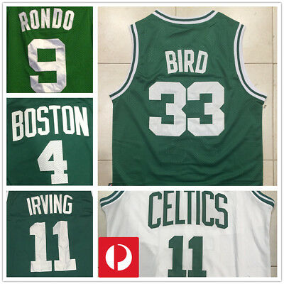 Boston Celtics NBA JERSEY- #33 Larry Bird, #4 Isaiah Thomas, #11 Kyrie Irving
