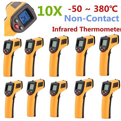 10PCS Non-Contact LCD IR Laser Infrared Digital Temperature Meter Thermometer UT
