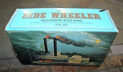 NEW Vintage Avon Side Wheeler Ship Boat Decanter with Wild Country After Shave