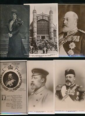 Royalty EDWARD VII and Queen Alexandra x14 mainly RP PPCs