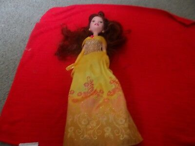 Belle - 12in Disney Princess Barbie Doll - 2015 Used