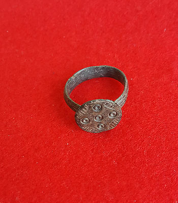 P54:Roman Empire: NICE  AUTHENTIC  Ancient  Bronze Ring Jewelry Artifact