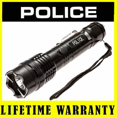 STUN GUN POLICE 1158 58 BV Max Voltage Rechargeable Metal LED Flashlight