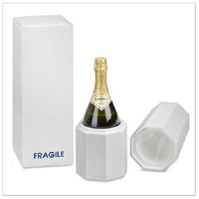 Champagne bottle shipping box with foam insert