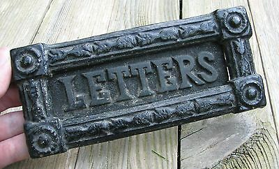 Antique Brass NOT cast iron Letter Box Plate / Mail Slot 19th Century