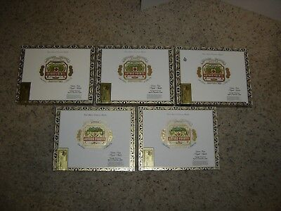 Lot Of 5 Wood Cigar Boxes Arturo Fuente Royal Salute (CBG Size)