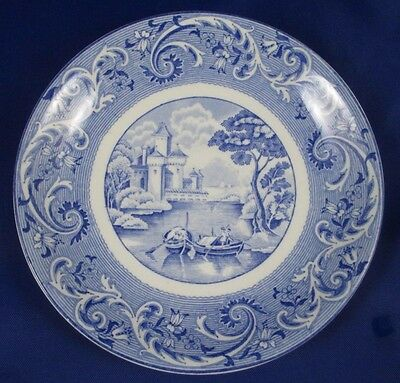 Ridgway Blue & White VENICE Saucer Made in England