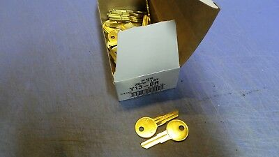 50 – Taylor Y13-BR, YALE Y13 Brass Key blanks. NEW