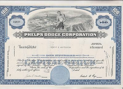 4 Vintage Stock Certificates Phelps Dodge Trans-Beacon Peel Elder Western Union