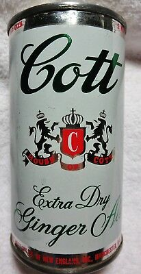 Cott Ginger Ale Soda can 12 oz 1950's-60's Manchester vanity flat top.Free Ship