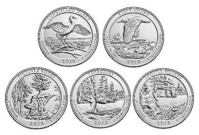 US National Park Quarter 2018 D & P Mint