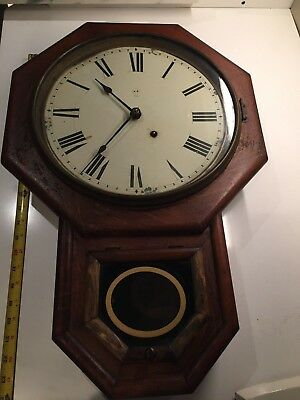 Seth Thomas Schoolhouse Short Drop Octagon Clock 1895 - OG, nice