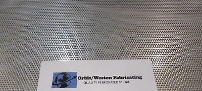 "11 Gauge (1/8"" Thick) 1/8"" Holes 304 Stainless Steel Perforated Sheet  6"" X 6"""